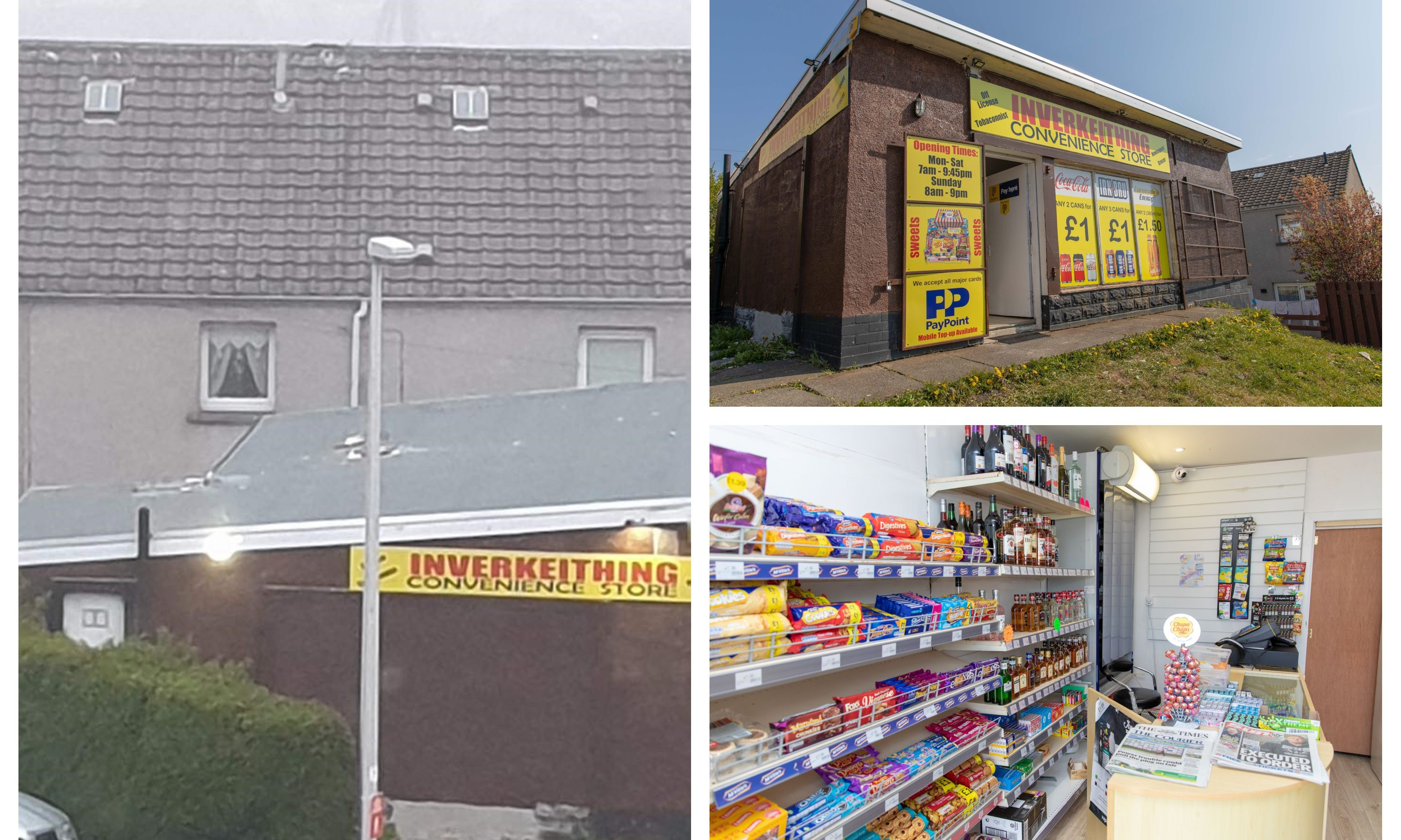 Inverkeithing Convenience Store, which was broken into on Thursday morning.