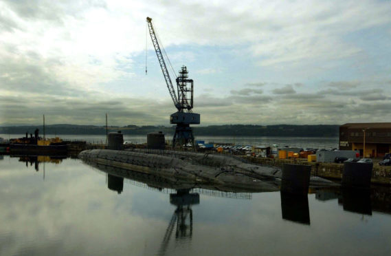 two of the stored subs at Rosyth