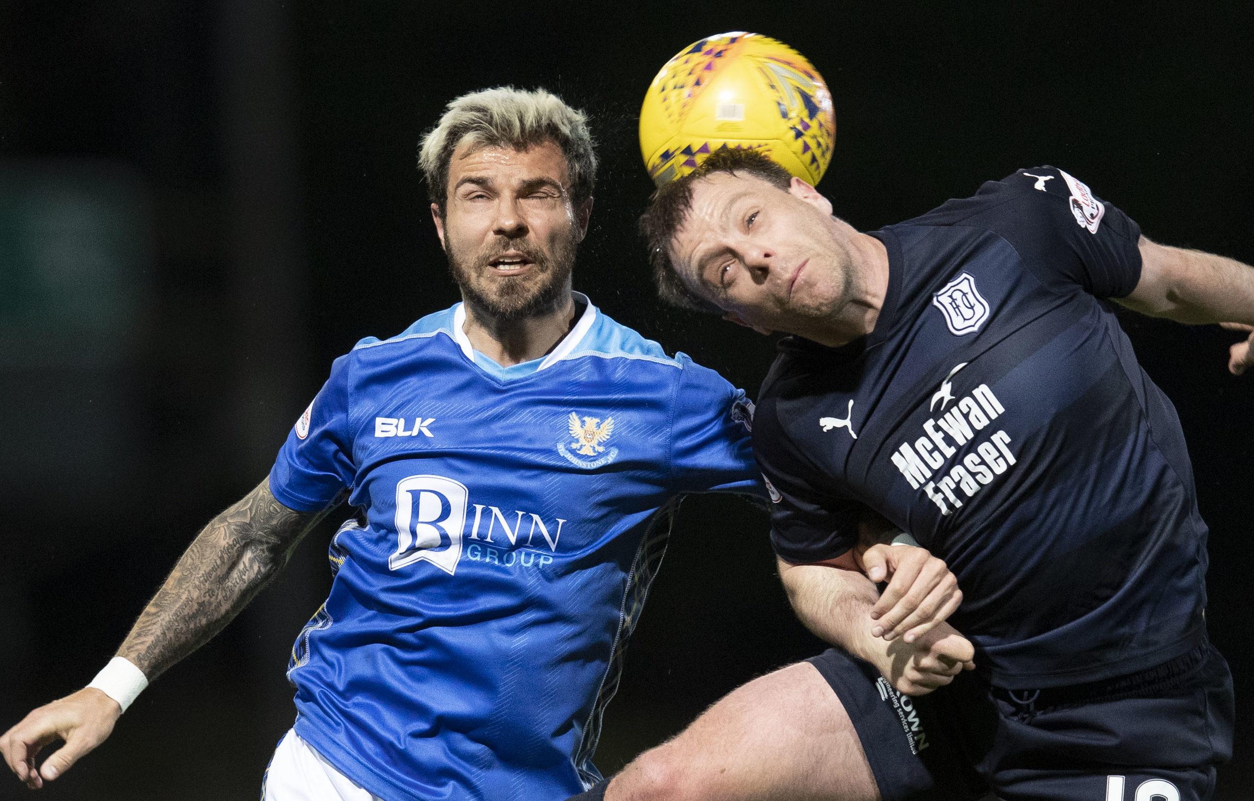 Paul McGowan in action against St Johnstone.