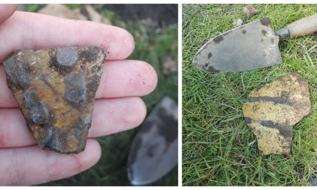 Two of the artefacts found