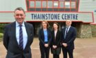 Pictured outside the Thainstone Centre are, from left: Pete Watson, Avril McLeod, Nicola Brice and Grant Rogerson.