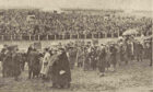 A large crowd enjoyed the opening race before attendances started to decline
