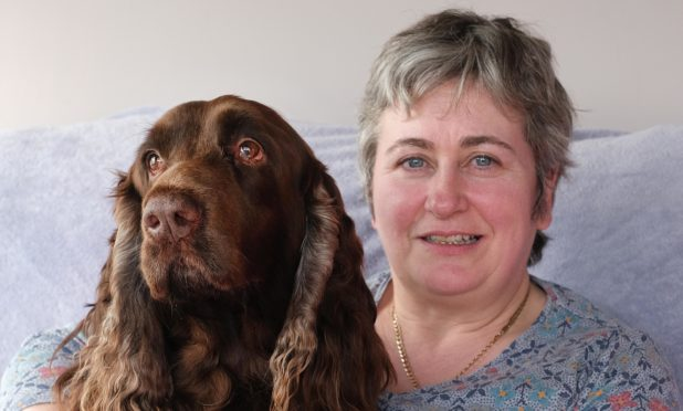 Anne Menzies with Reuben.