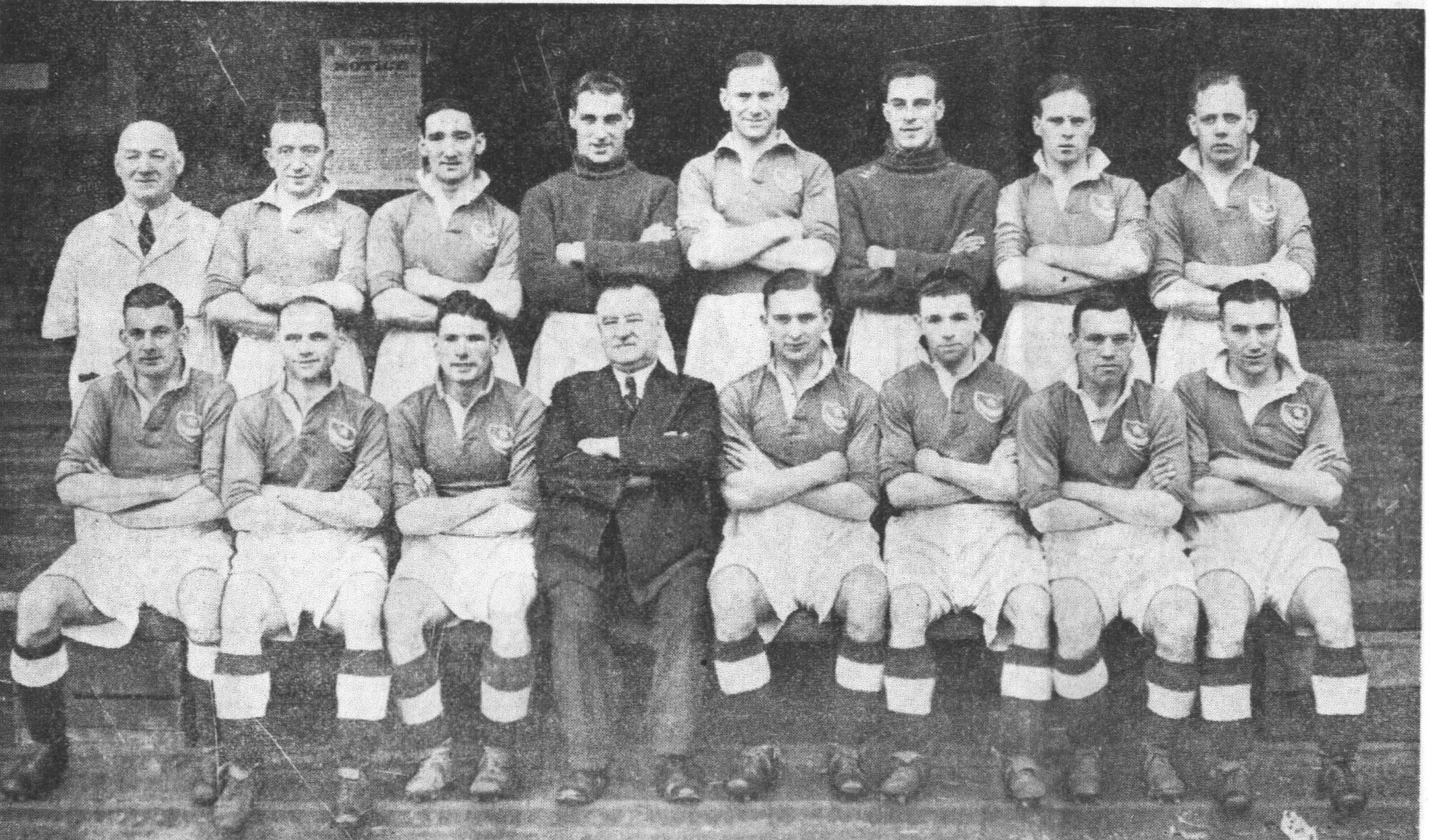The 1939 Portsmouth team which won the FA Cup against the odds