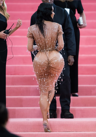 Kim Kardashian West is seen arriving to the 2019 Met Gala Celebrating Camp: Notes on Fashion at The Metropolitan Museum of Ar.