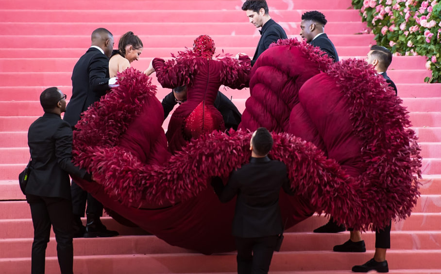 Rapper Cardi B is seen arriving to the 2019 Met Gala Celebrating Camp: Notes on Fashion at The Metropolitan Museum of Art.