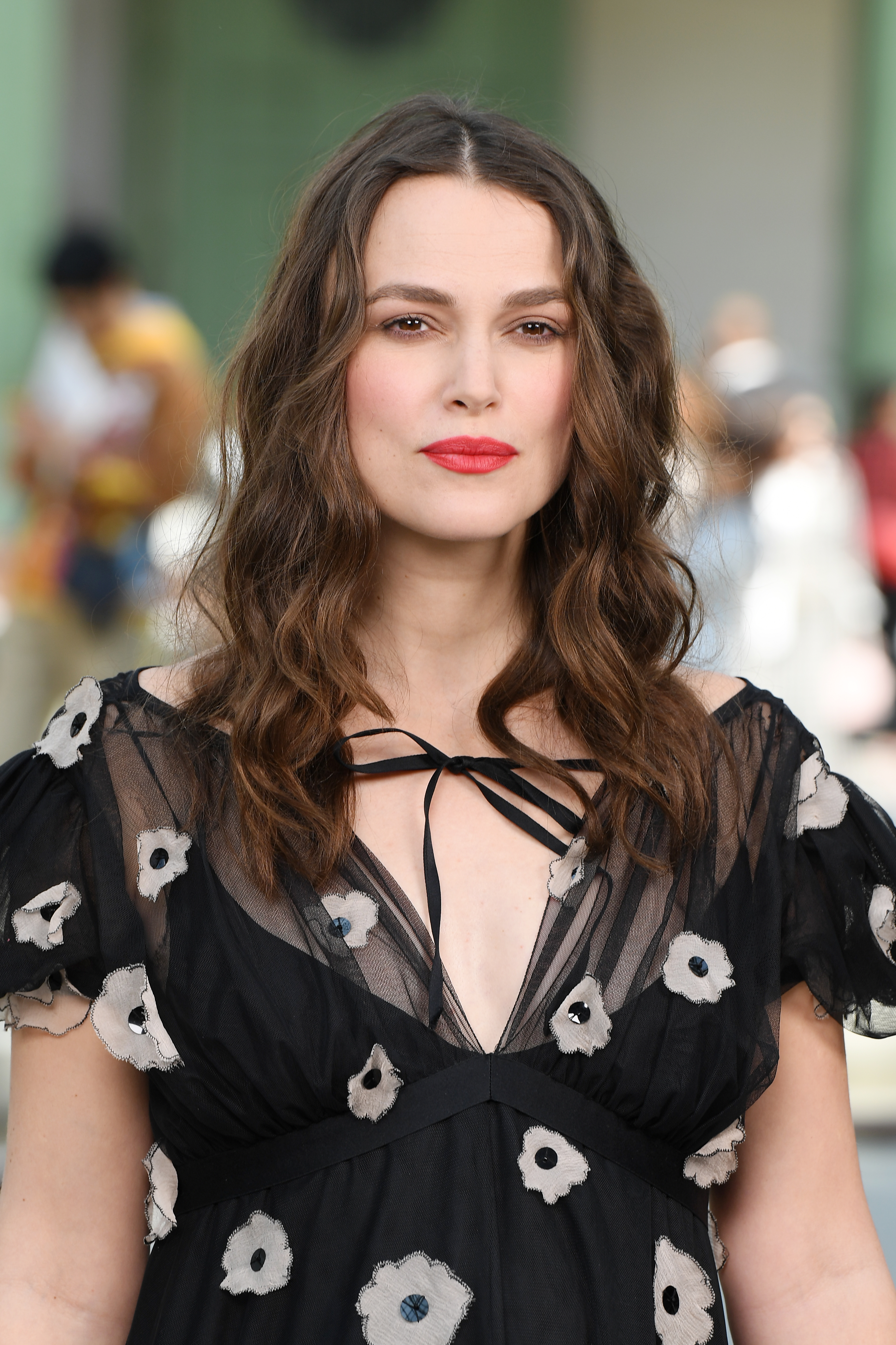 Keira Knightley attends the Chanel Cruise 2020 Collection in Paris, France. (