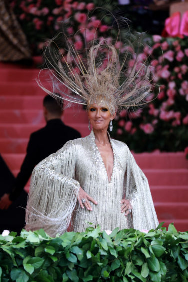 Celine Dion attends The 2019 Met Gala Celebrating Camp: Notes on Fashion at Metropolitan Museum of Art.