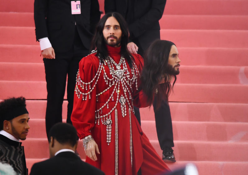 Jared Leto attends the 2019 Met Gala Celebrating 'Camp: Notes on Fashion' at Metropolitan Museum of Art.