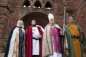A previous pageant recreation at Arbroath Abbey