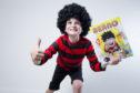 Ruaridh Brewer, 8, superfan of Beano comics.