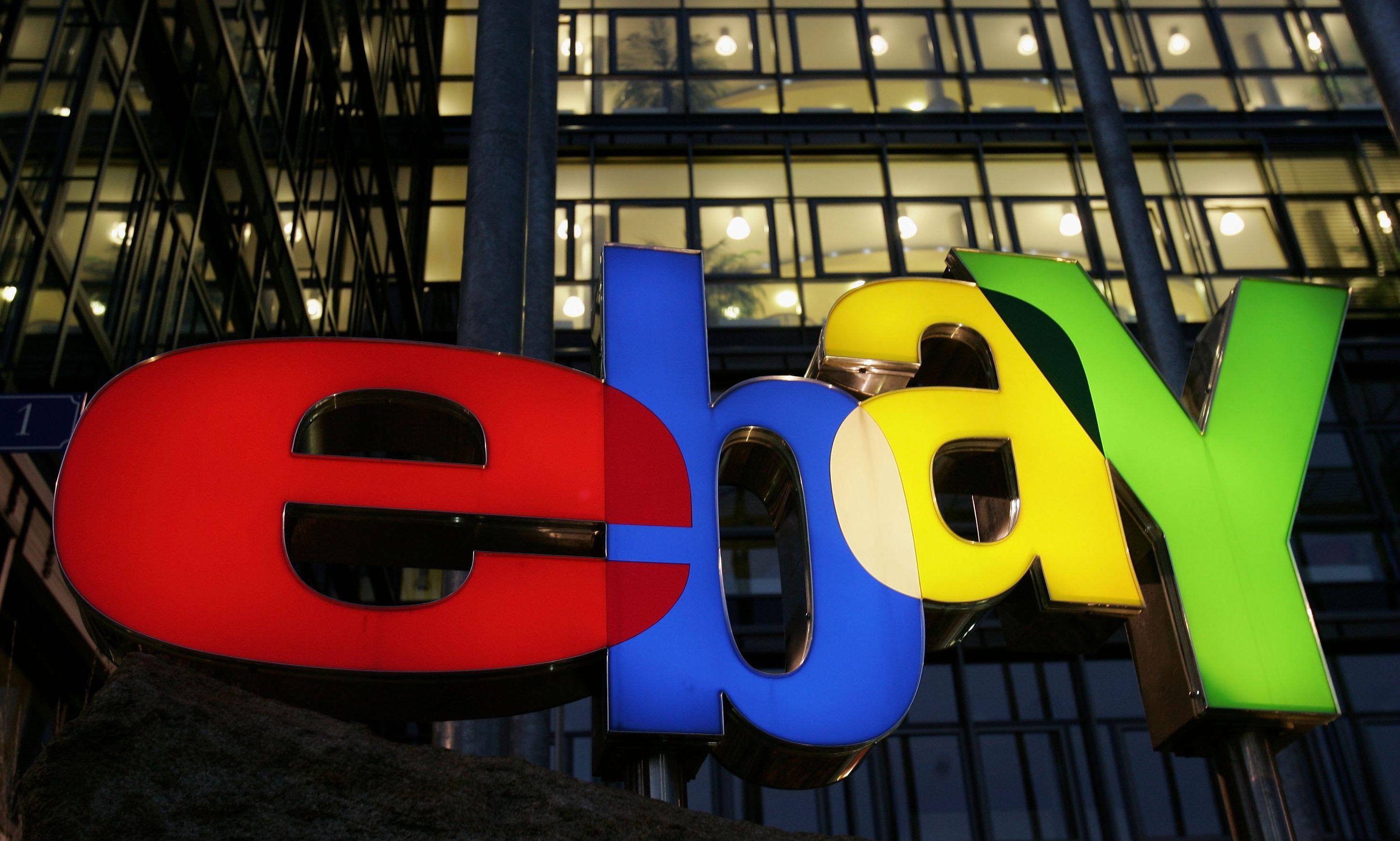 The logo of Internet auction house eBay.