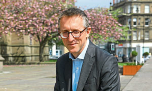 Sam Woods, deputy governor of the Bank of England, during his physical visit to Dundee last year.