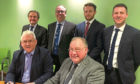 Back (left to right) Alistair Gibb, Ownership Associates; Dougie Rae, EQ; Neil McWilliam, Thorntons; and Chris Byrne, Thorntons. Front (left to right) GS Brown owners Des Brown and Mike Brown.