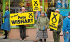SNP campaigners in Blairgowrie in 2017.