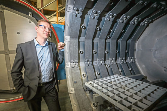 ATL Turbine Services chief executive Dale Harris with the companys new furnace
