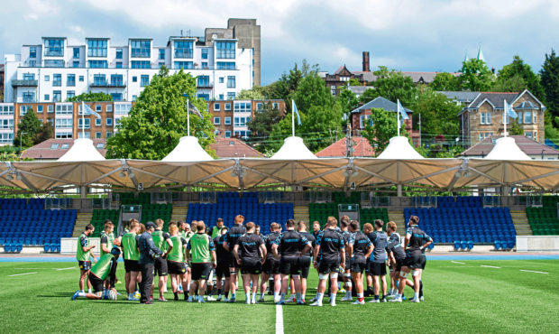 The Glasgow Warriors, in training this week in advance of Saturday's PRO14 final at Celtic Park.