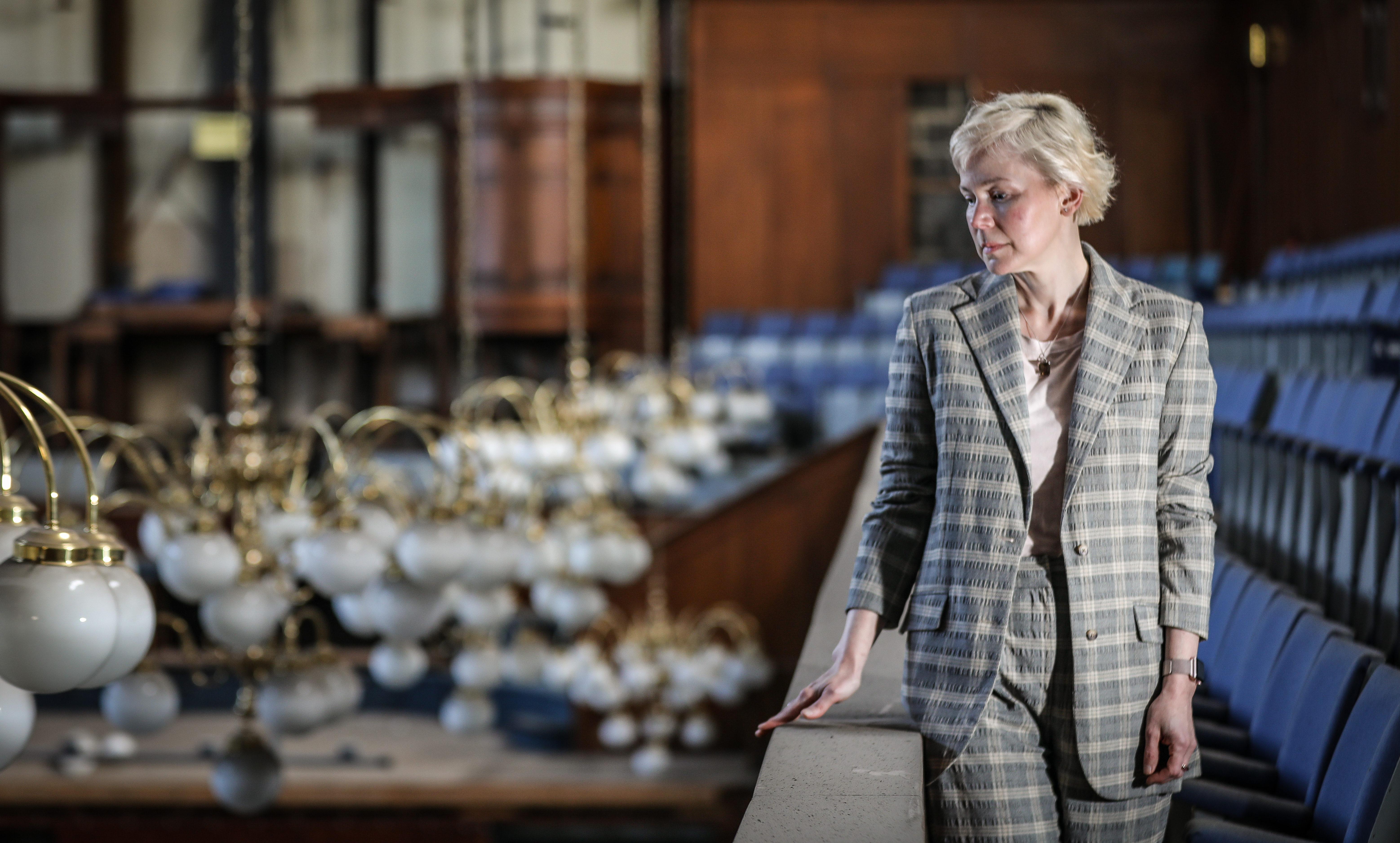 Head of Culture Fiona Robertson inside Perth City Hall
