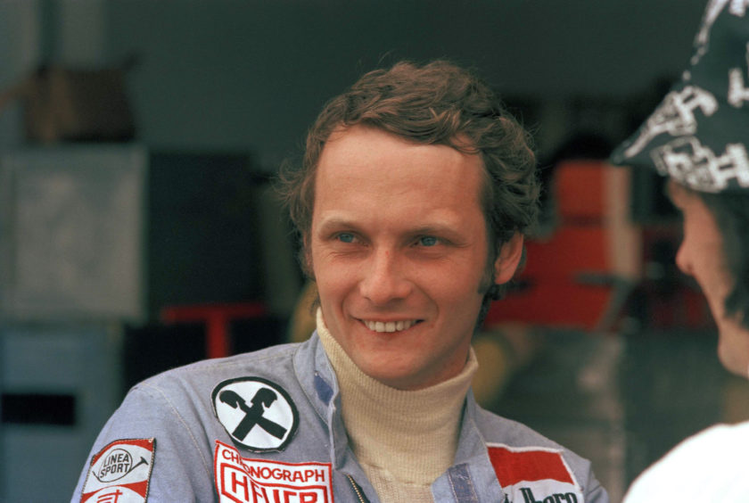 1975 file photo, Austrian auto racer Niki Lauda, pictured during the Argentine Grand Prix in Buenos Aires.