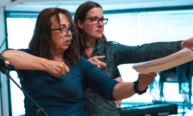 Irene Macdougall and Emily Winter in rehearsal for A-Z Dundee.
