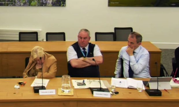 Anne Jarvis at the Scrutiny Committee