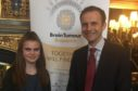 Maisie along with Stephen Gethins MP at the reception.
