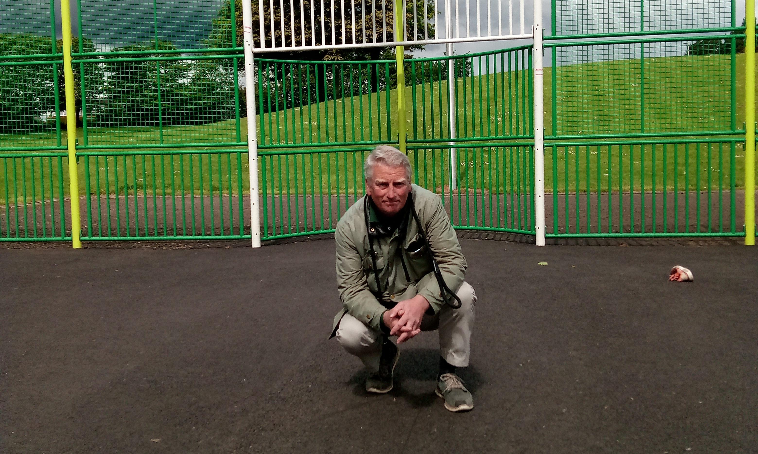 Craig Duncan at the unfinished MUGA.