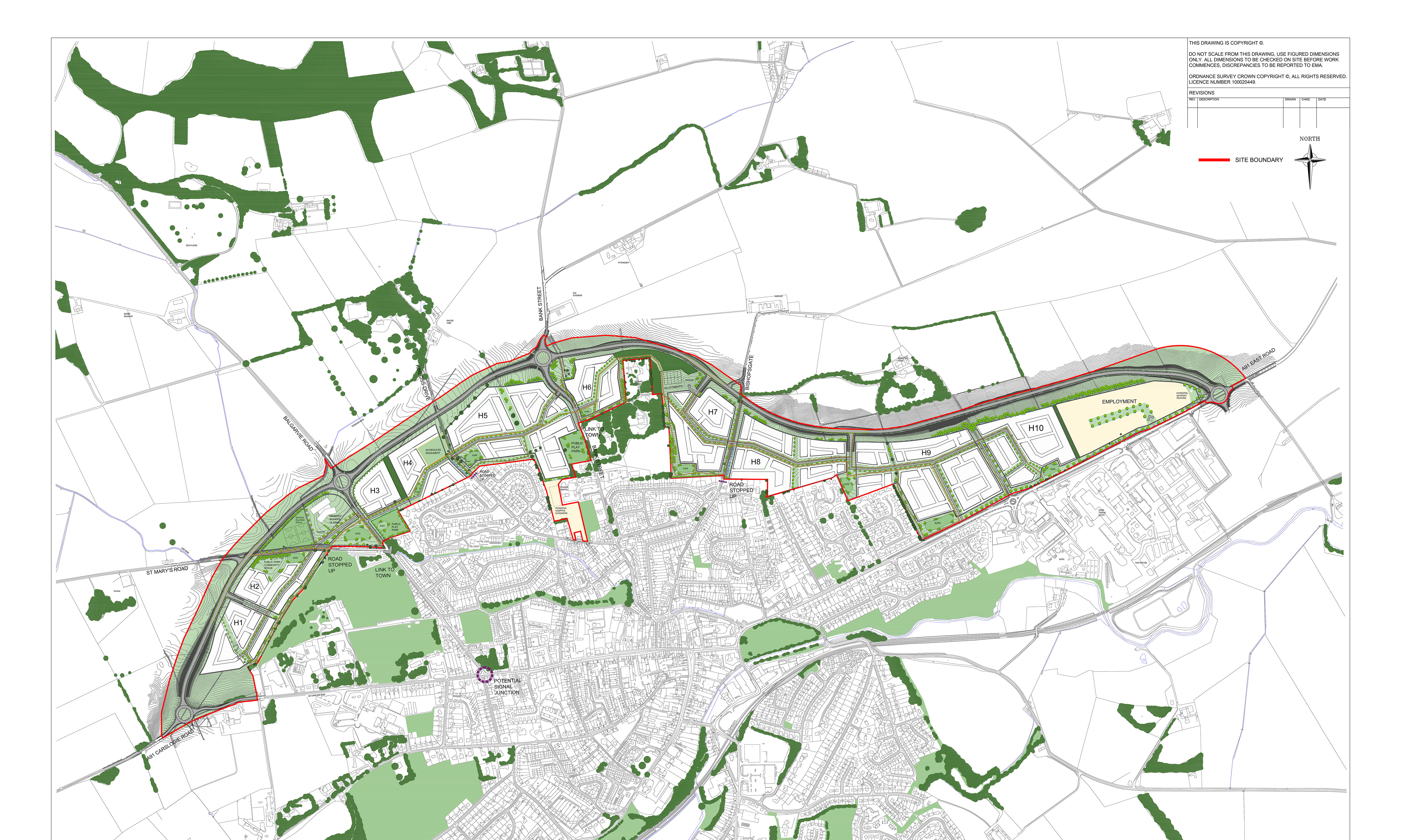The masterplan for Cupar North.