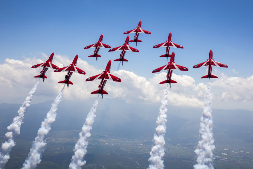 The Red Arrows fly the BAE Systems' Hawk T1.