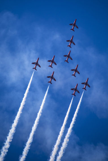 All Red Arrows pilots are from frontline squadrons and, before joining the team, operated jets such as the Tornado, Typhoon or Harrier.