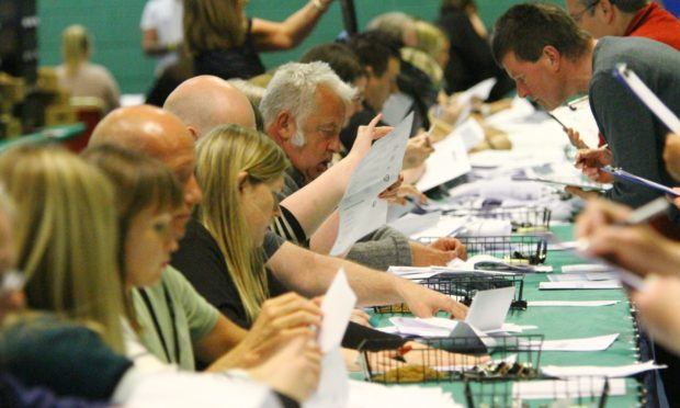 The count at Fintry Primary School.