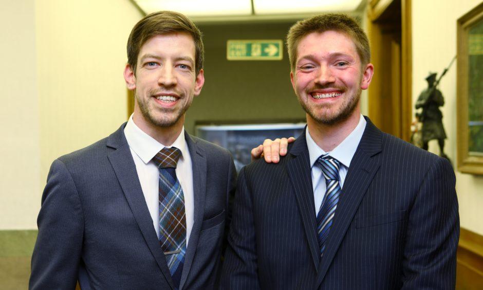 Steven Rome, right, with John Alexander.