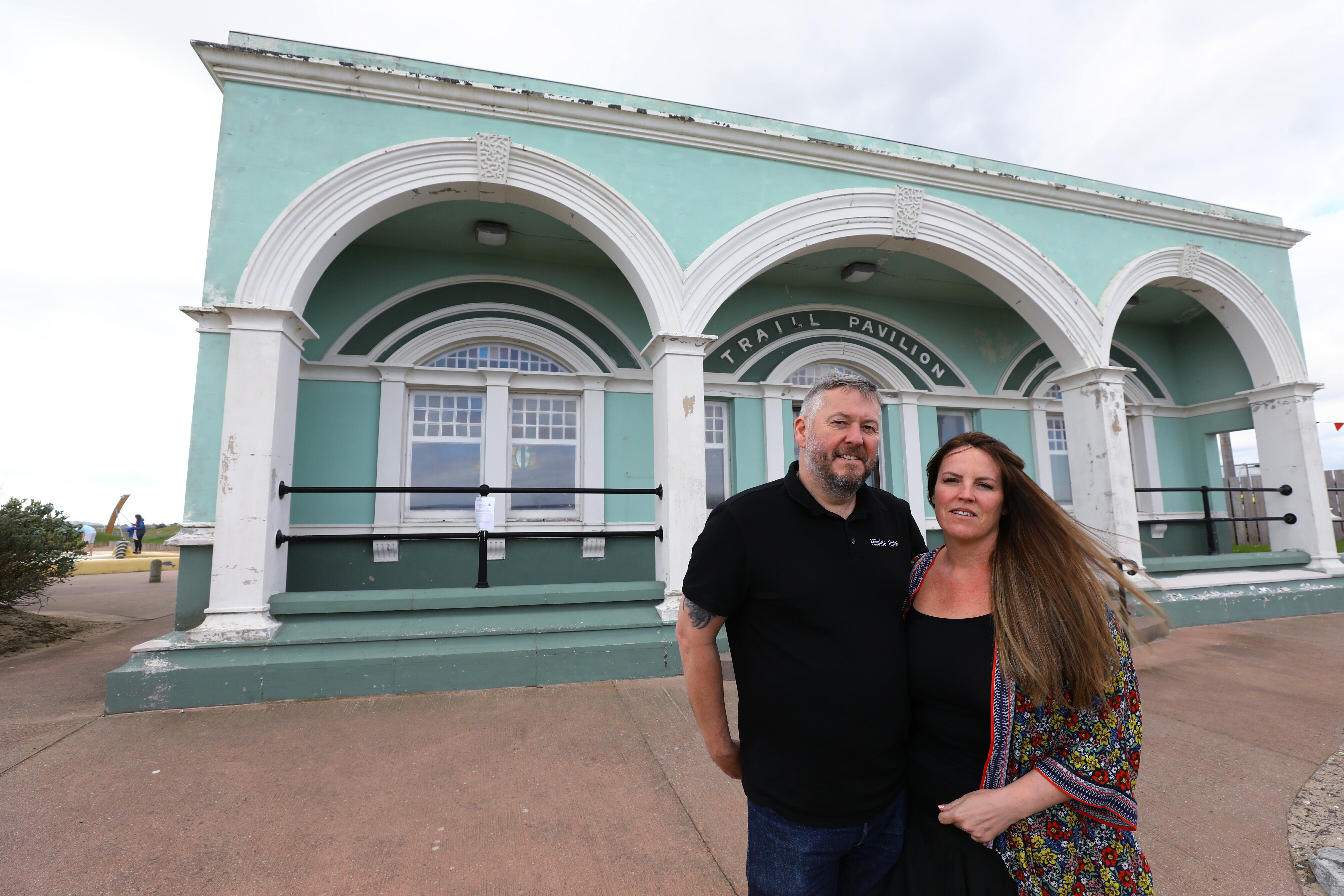 Owner Norman Braes and his wife Catherine at the Traill Pavillion