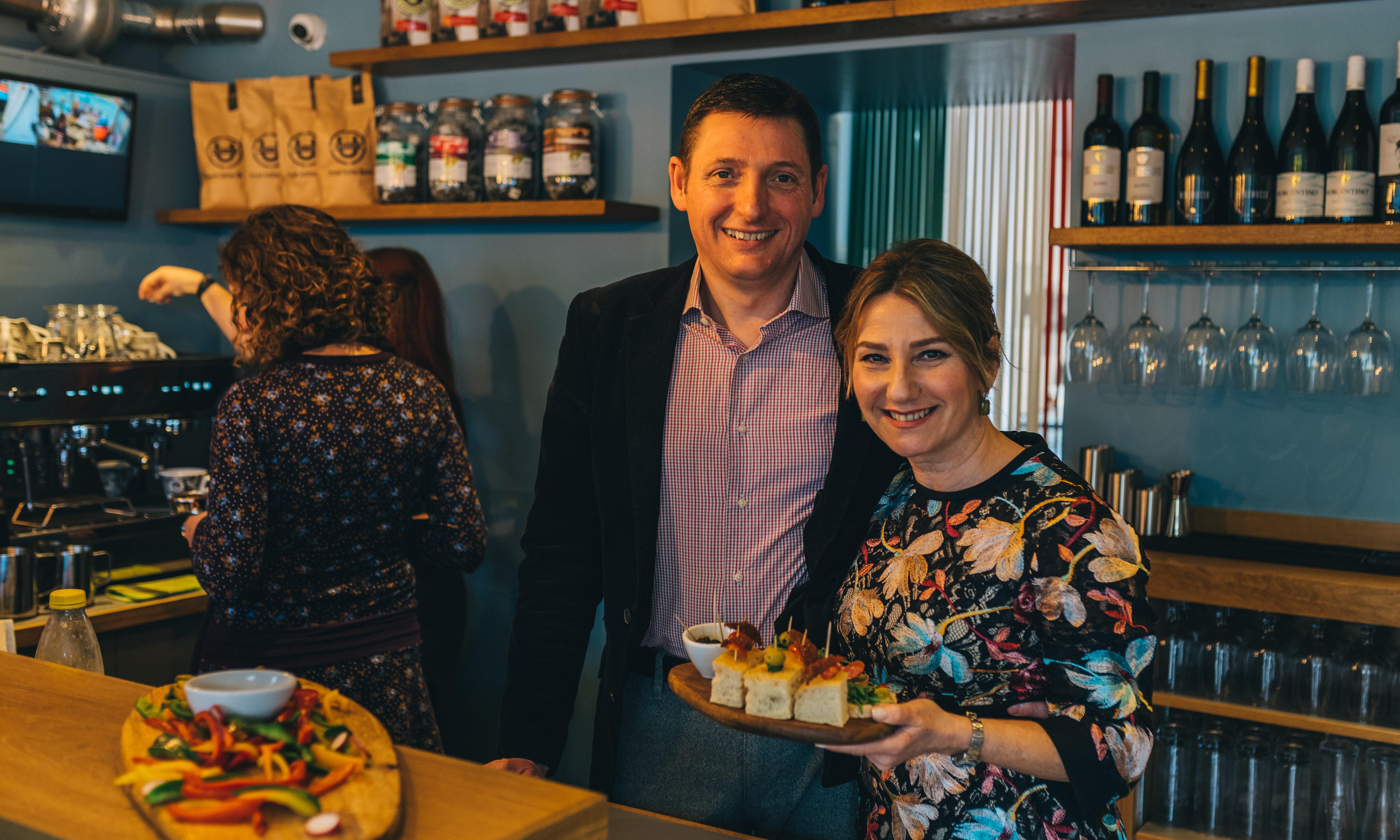La Sicilyana's Laura Raimondi with husband and business partner Steven Dalton.