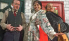 The cast of Doorways in Drumorty,  from left,  Fraser Sivewright, Lucy Goldie and Estrid Barton. Picture: Andy Corelli.
