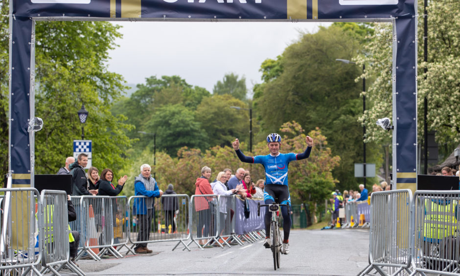 Gary Paterson from Cupar who set a new course record in the 85 mile event.