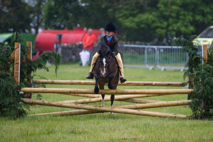 Pony show jumping