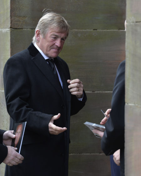Sir Kenny Dalglish arriving at St Aloysius Church, Glasgow for the funeral service for former Celtic player  Billy McNeill. PRESS ASSOCIATION Photo. Picture date: Friday May 3, 2019. McNeill, who captained the famous Lisbon Lions side that won the European Cup in 1967 and who also went on to manage the club, died aged 79.