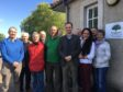 Stephen Gethins MP, fifth from right, is pictured with Falkland residents and Springfield Homes' land and planning manager Jim Ravey, left.