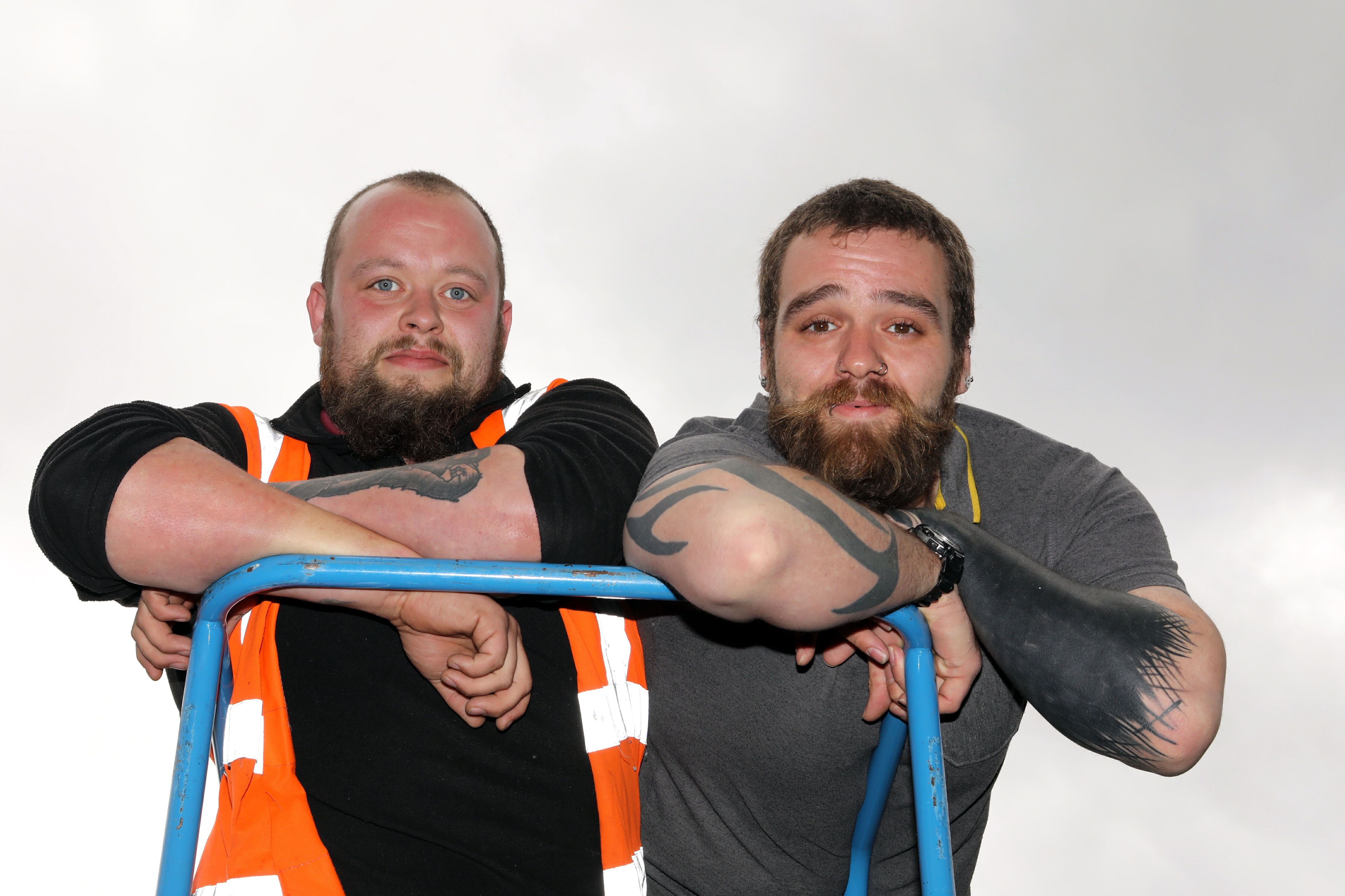 Ross Nicoll and Steven Thompson who are to stay 10 days at the top of Ben Nevis