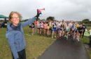 Mindy Grewar starts the race