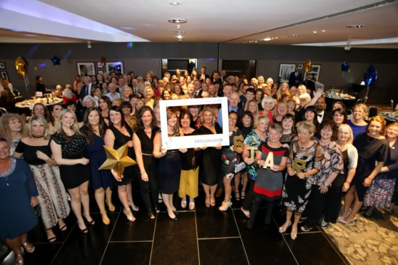 Prizewinners gathered for the NHS Tayside STAR Awards