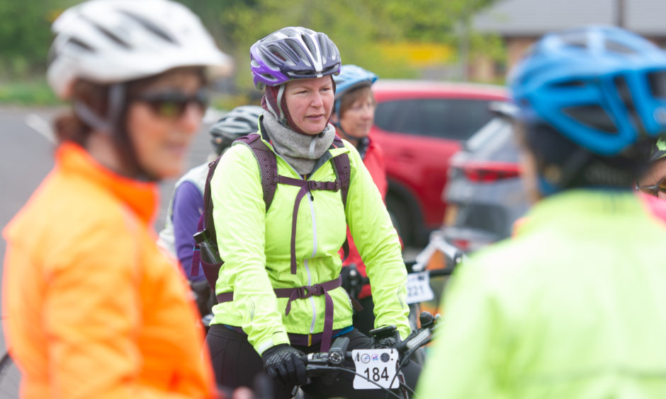 The cyclists followed routes through Perthshire and Angus with a mixture of gradients to suit all abilities.