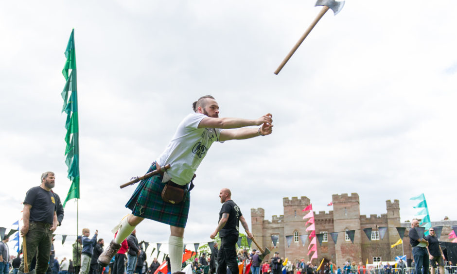 Axe-wielding competitors from all over the UK, Ireland and Europe attended the event.