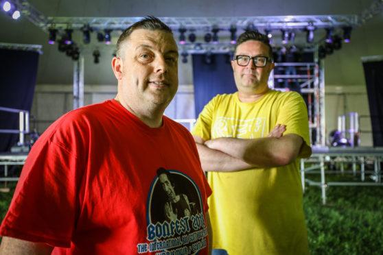 Bonfest organisers John Crawford and Graham Galloway of DD8 Music.