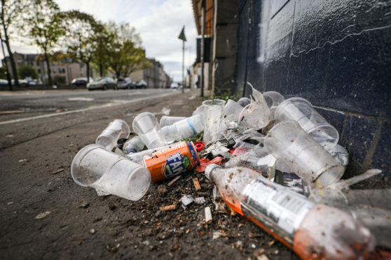 Roadside rubbish remains a huge problem.
