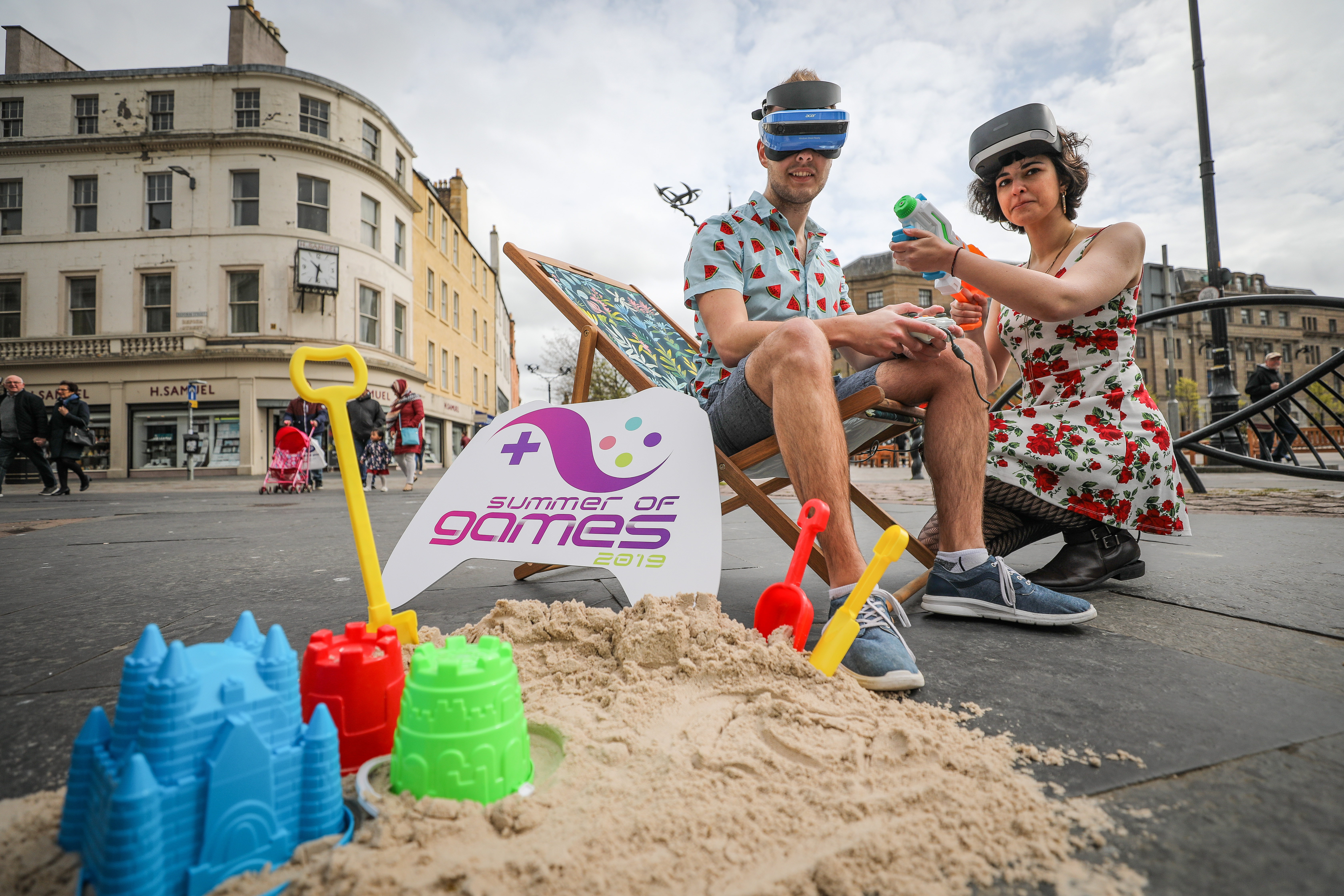 Students from Abertay took to the City Square to launch the Summer of Games