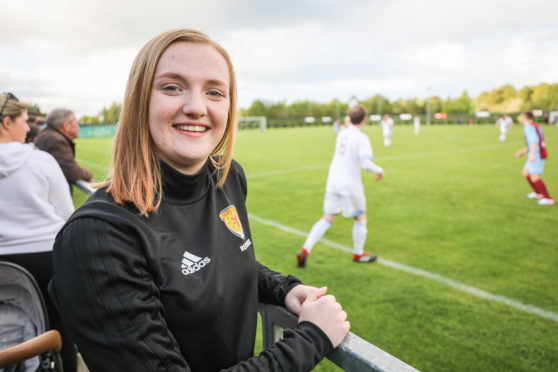 Isla is promoting the benefits of football to mental wellbeing