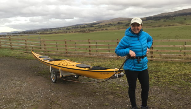 Alexis with her sea kayak