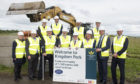 Representatives of Murray Estates celebrate the start with Fife councillors